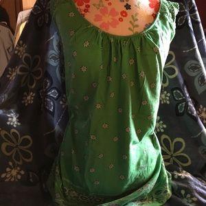 Green Floral & Paisley Tank Top